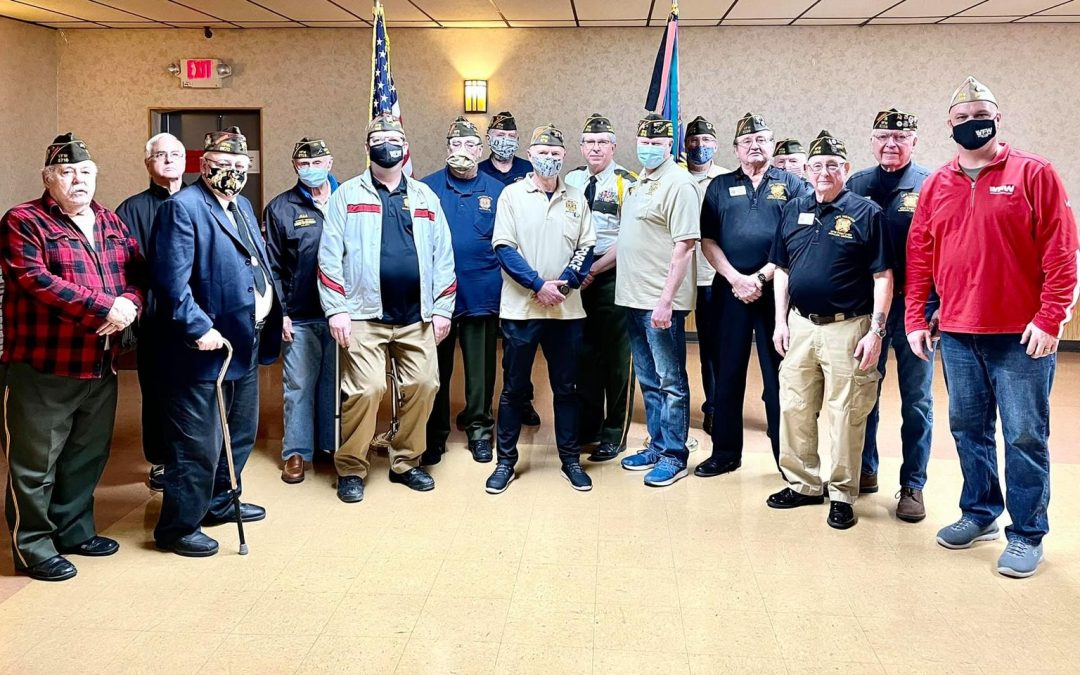 Wisconsin VFW Commander Tours the State Presenting 75 Year Anniversary Certificates to VFW Posts